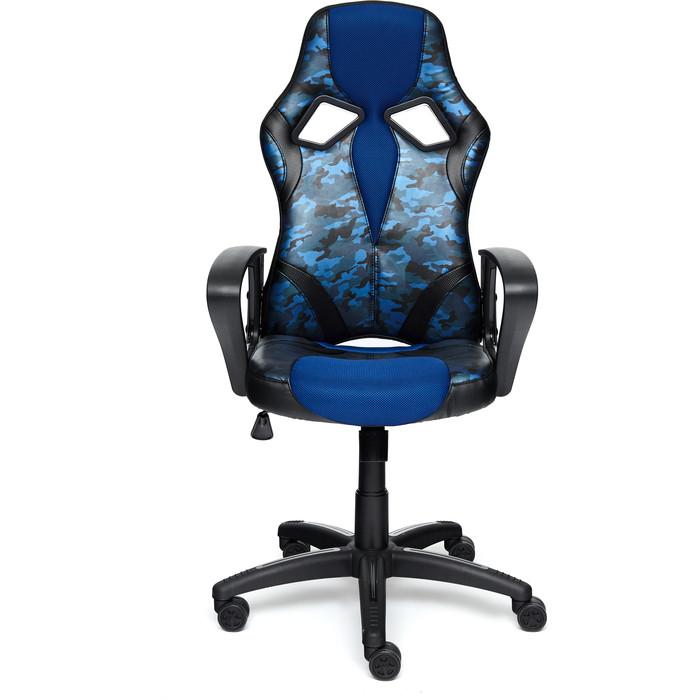 Кресло TetChair Runner military кож/зам/ткань синий