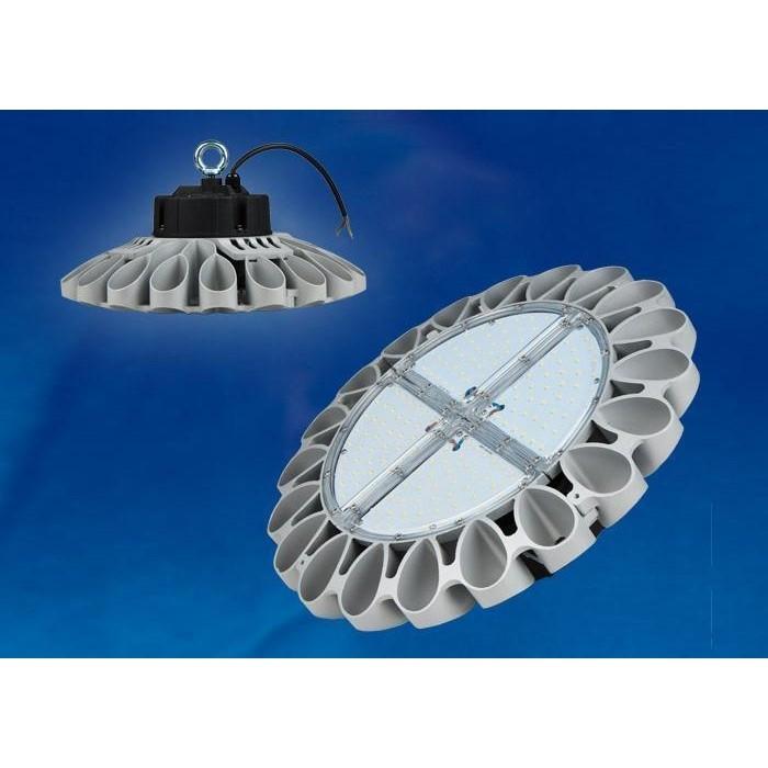 Подвесной светодиодный светильник Uniel ULY-U30C-100W/NW IP65 Silver светильник для растений uniel uli p10 10w spfr ip40 white светодиодный линейный 550мм