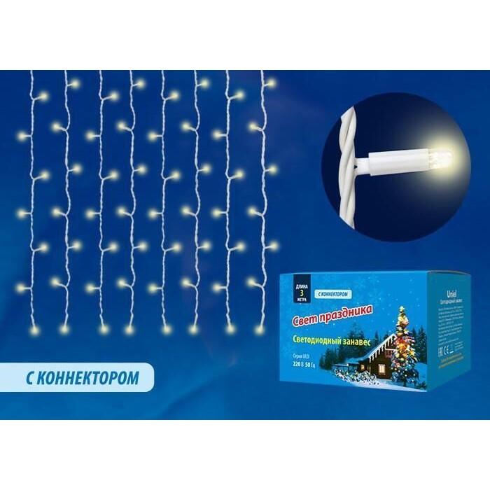 Уличная светодиодная гирлянда Uniel ULD-C3030-400/TWK White IP67