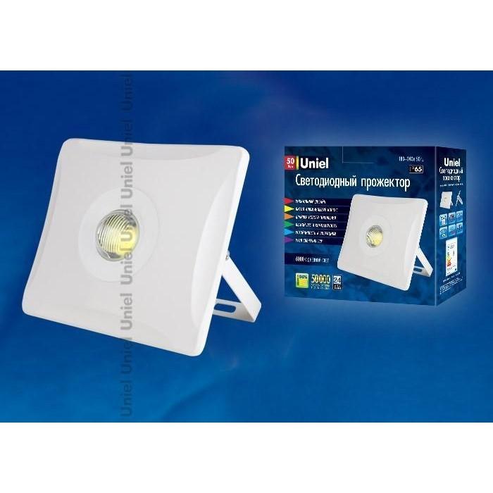 Прожектор светодиодный Uniel ULF-F11-50W/DW IP65 180-240B White светильник для растений uniel uli p10 10w spfr ip40 white светодиодный линейный 550мм