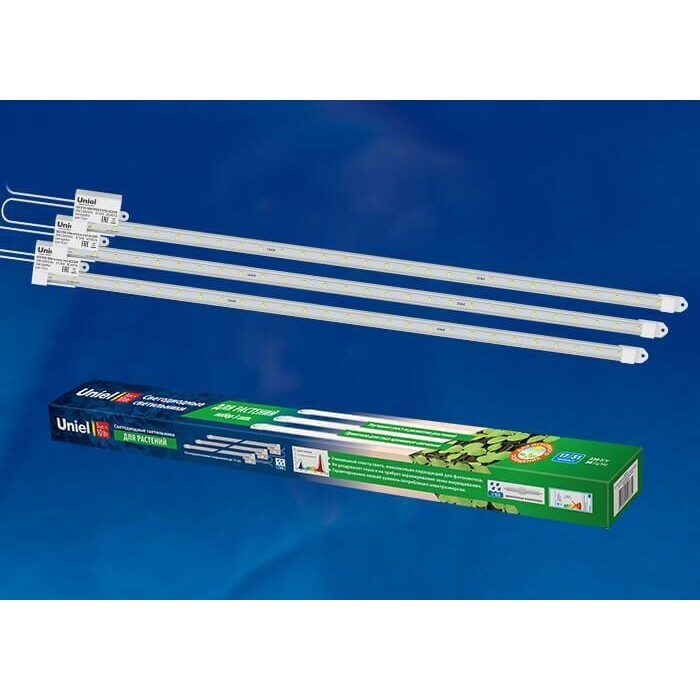Светодиодный светильник для растений Uniel ULY-P90-10W/SPFR/K IP65 AC220V Clear KIT03
