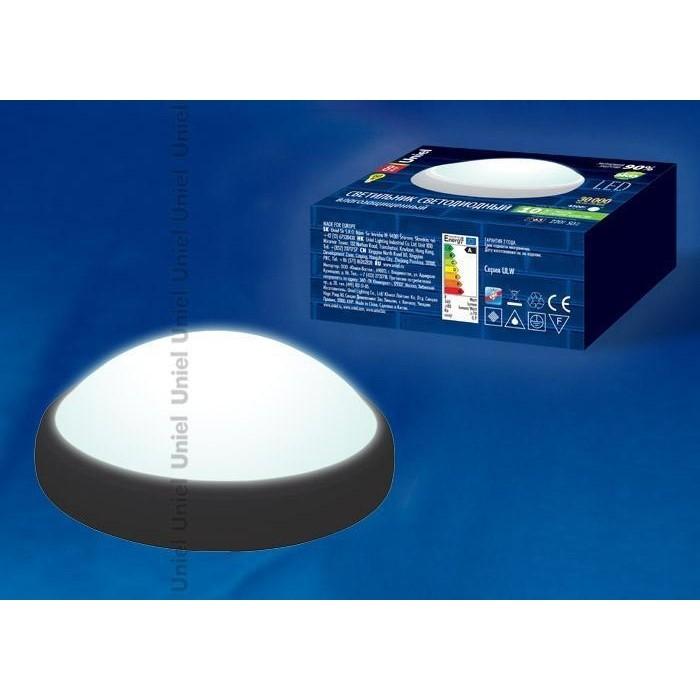 Потолочный светодиодный светильник Uniel ULW-O03-8W/NW IP65 BLACK