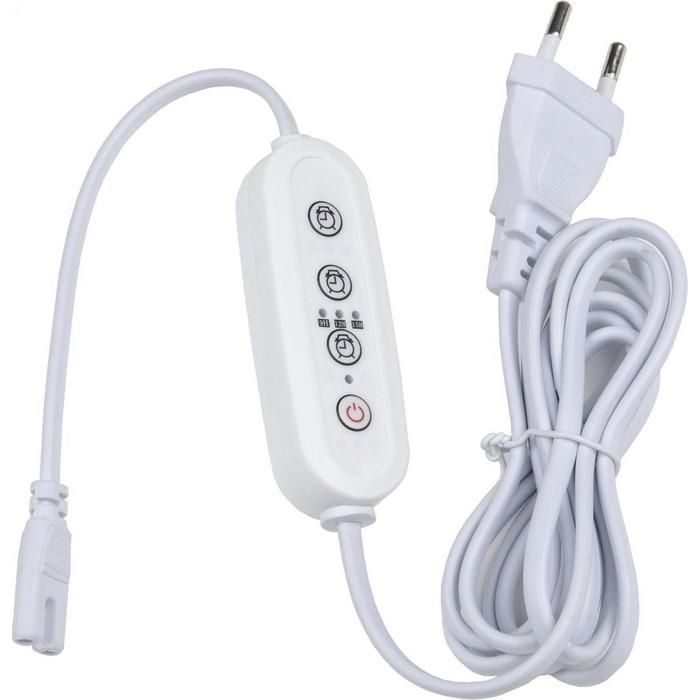 Таймер с вилкой и разъемом для фито светильника Uniel UST-E32 WHITE 2M
