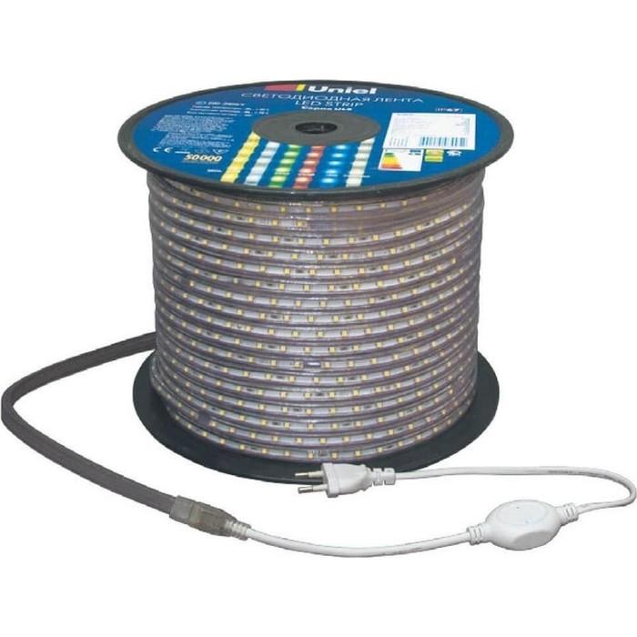 Светодиодная влагозащищенная лента Uniel ULS-2835-60LED/m-10mm-IP67-220V-8W/m-50M-DW рулетка bmi radius 50m стальная лента