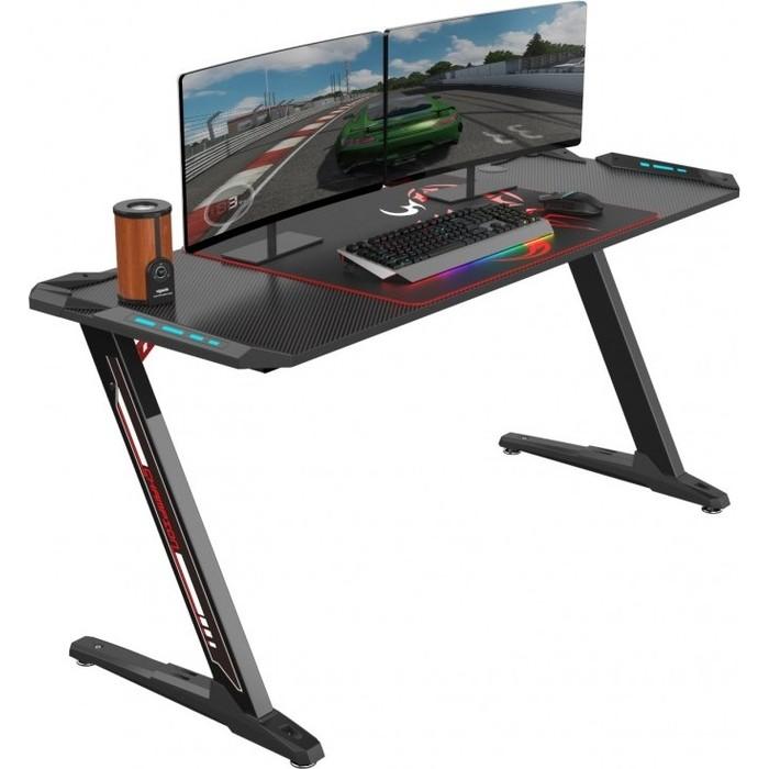 Стол для компьютера Eureka Z60 c RGB подсветкой черный стол для компьютера eureka z1s