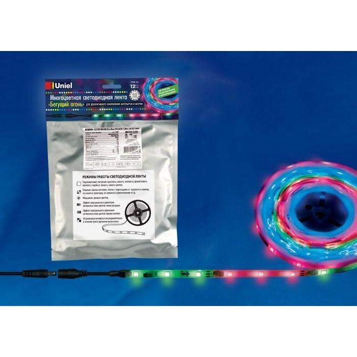 Светодиодная влагозащищенная лента Uniel ULS-F20-5050-30LED/m-10mm-IP65-DC12V-7,2W/m-5M-RGB Smart