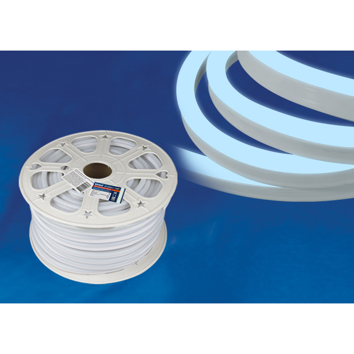 Светодиодная влагозащищенная лента Uniel ULS-N21-2835-120LED/m-8mm-IP67-220V-8W/m-50M-DW