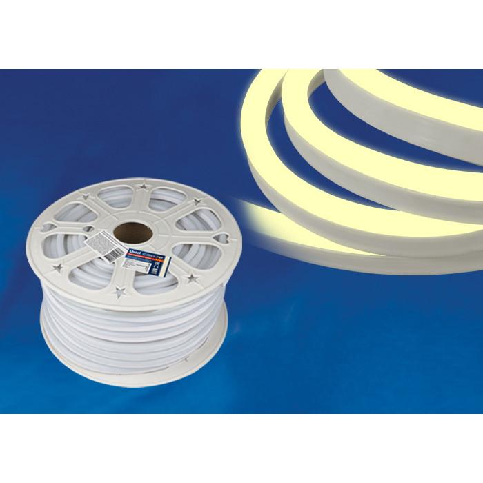 Светодиодная влагозащищенная лента Uniel ULS-N21-2835-120LED/m-8mm-IP67-220V-8W/m-50M-WW