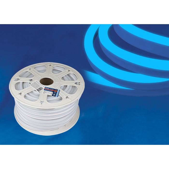 Светодиодная влагозащищенная лента Uniel ULS-N21-2835-120LED/m-8mm-IP67-220V-8W/m-50M-Blue