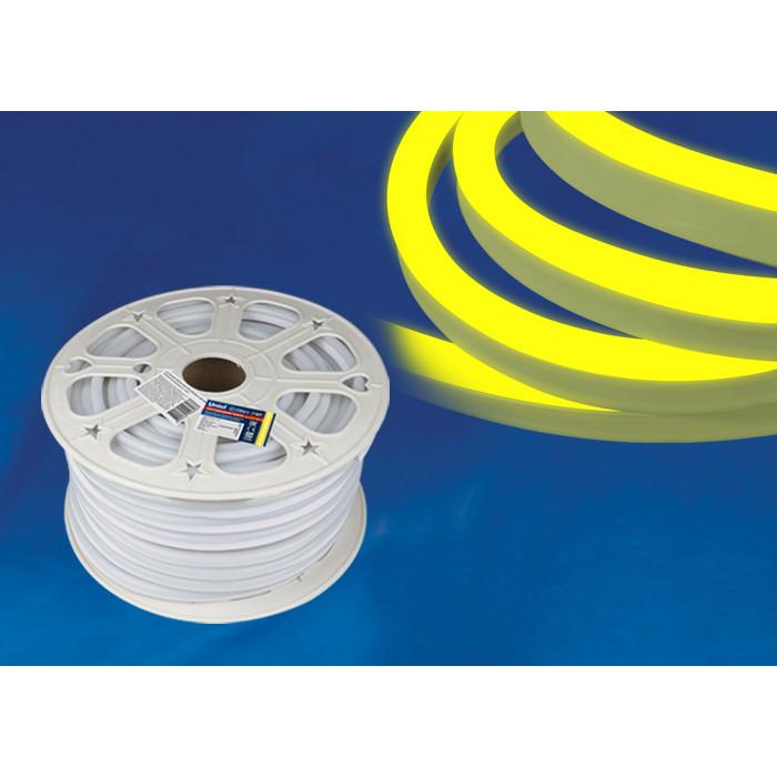 Светодиодная влагозащищенная лента Uniel ULS-N21-2835-120LED/m-8mm-IP67-220V-8W/m-50M-Yellow