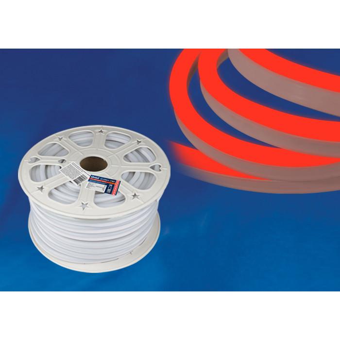Светодиодная влагозащищенная лента Uniel ULS-N21-2835-120LED/m-8mm-IP67-220V-8W/m-50M-Red