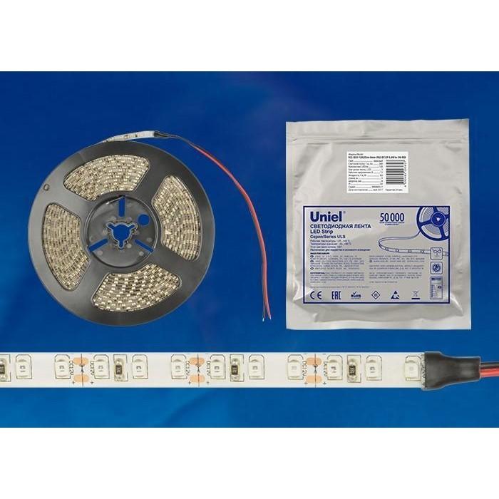 Светодиодная влагозащищенная лента Uniel ULS-2835-120LED/m-8mm-IP65-DC12V-9,6W/m-5M-RED