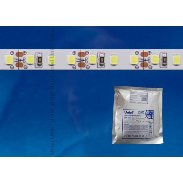Светодиодная влагозащищенная лента Uniel ULS-2835-60LED/m-8mm-IP65-DC12V-6W/m-5M-DW