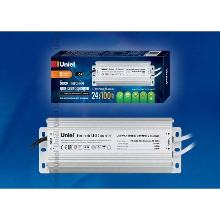 Блок питания для светодиодов Uniel UET-VAJ-100B67
