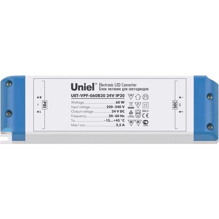Блок питания для светодиодов Uniel UET-VPF-060B20 10 pieces lot vacuum cleaner parts paper dust bag for toshiba vpf 1 vpf 2 cpf 4 vpf 5 xtw 80 sc 35a etc