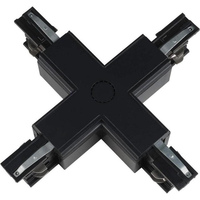 Соединитель для шинопроводов Х-образный Uniel UBX-A41 Black