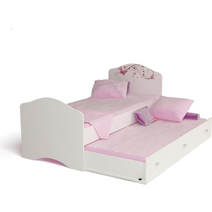 Кровать-классика ABC-KING Фея с рисунком без страз 190x90 ящика и матраса