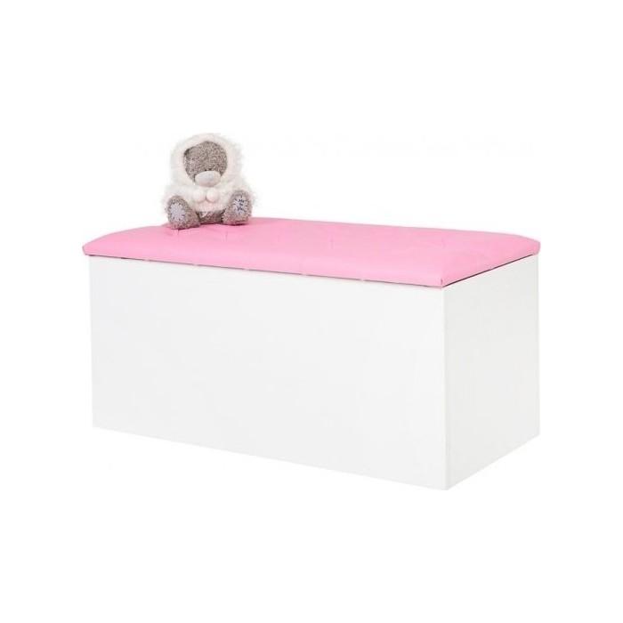 Ящик для игрушек ABC-KING Princess, Фея кожанная крышка со стразами Сваровски розовая