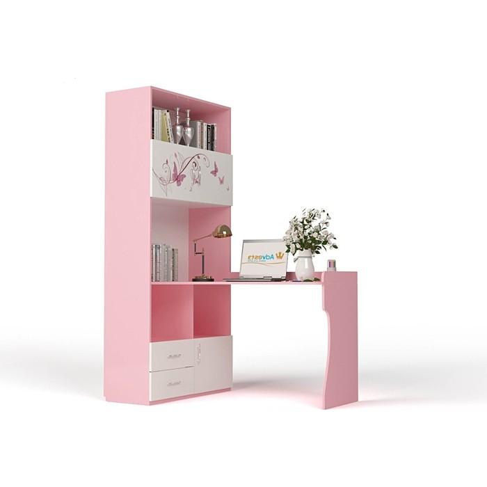 Стол-стеллаж ABC-KING Фея левый розовый abc king стол фея
