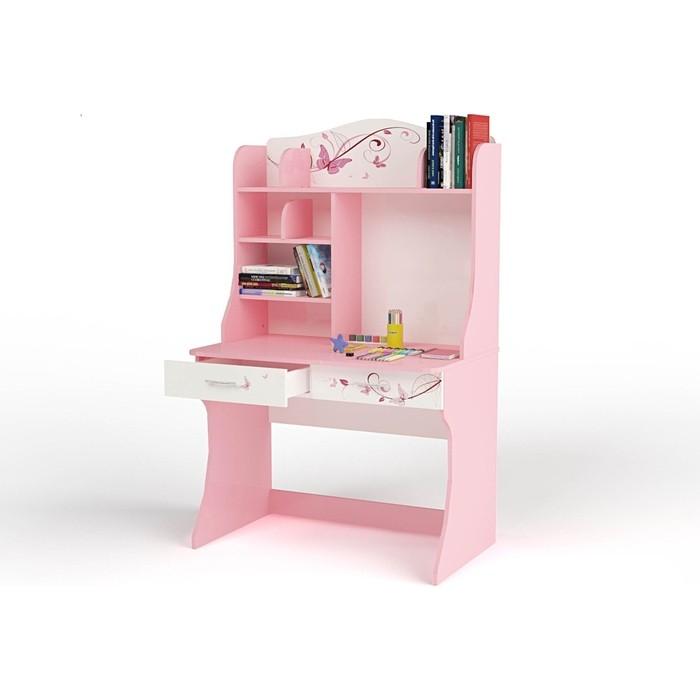 Стол ABC-KING Фея розовая с надстройкой