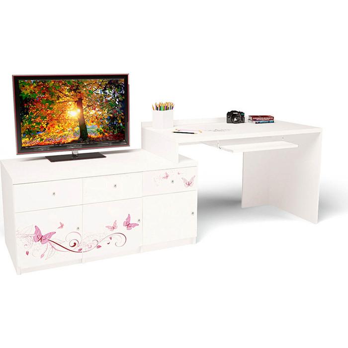 Стол модульный Г тумба ABC-KING 400+800 Фея левый шкафы abc king угловой гармошка фея с зеркалом левый