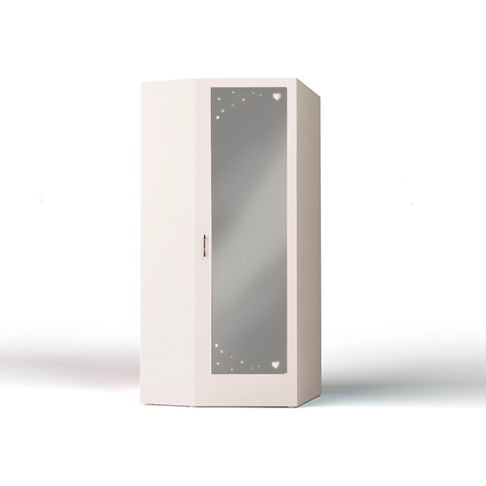 Шкаф угловой ABC-KING Princess с зеркалом каркас белый правый