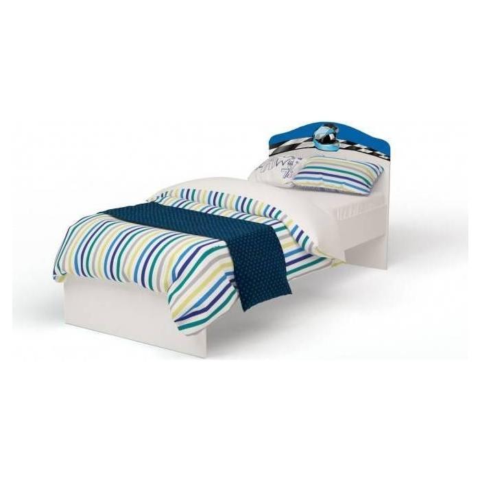 Кровать-классика ABC-KING La-Man с рисунком 160x90 без ящика синий
