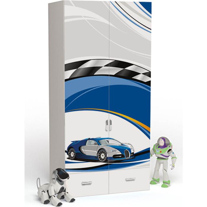 Шкаф ABC-KING La-Man синий 2-х дверный