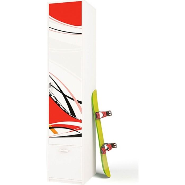 Шкаф ABC-KING La-Man красный правый с 1-й дверью