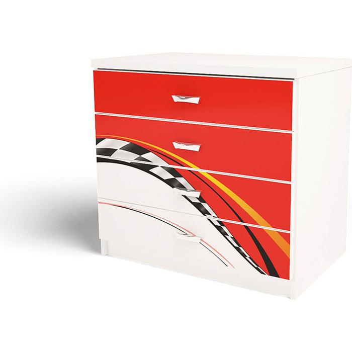 Комод ABC-KING La-Man 4 ящика красный
