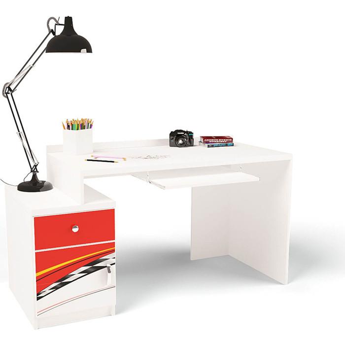 Стол модульный Г тумба ABC-KING 400 La-Man левый красный