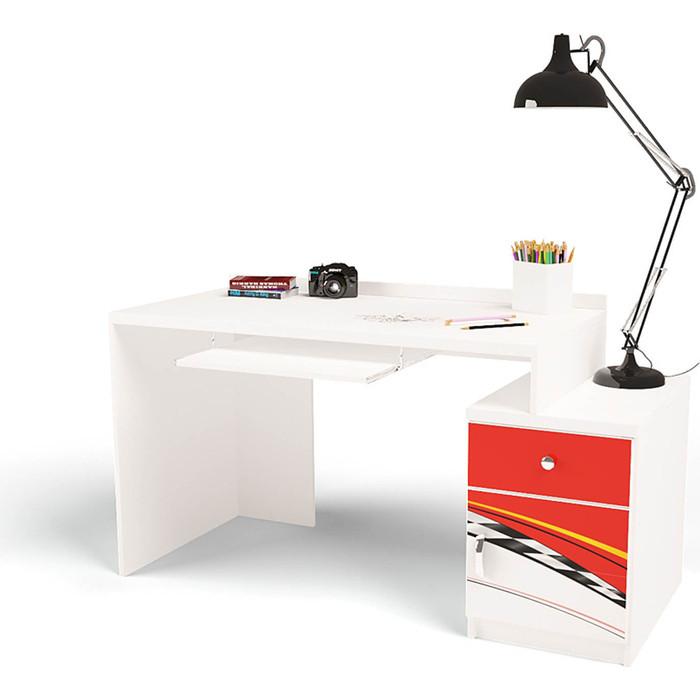Стол модульный Г тумба ABC-KING 400 La-Man правый красный