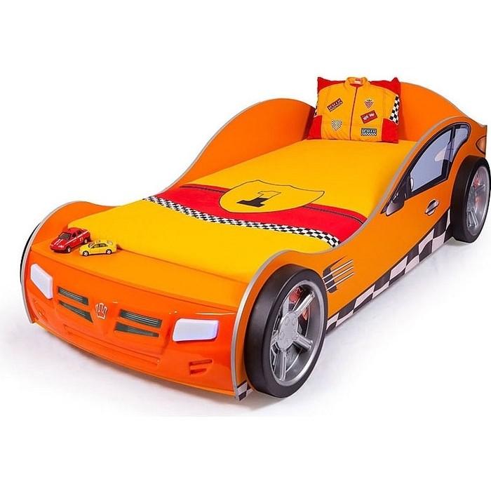 Кровать-машина ABC-KING Formula 160x90 оранжевая