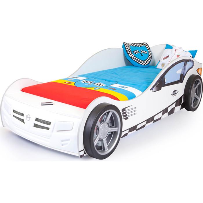 Кровать-машина ABC-KING Formula 190x90 белая
