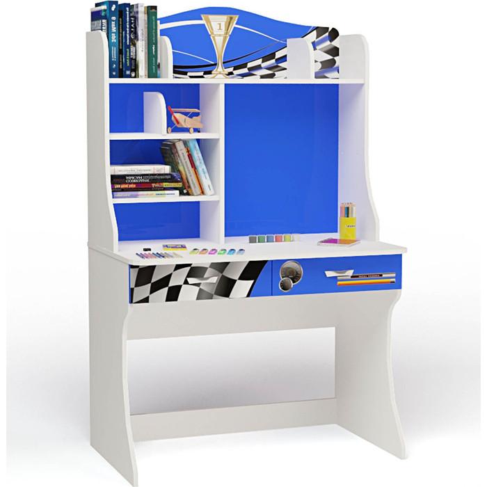 Стол ABC-KING Formula синяя с надстройкой