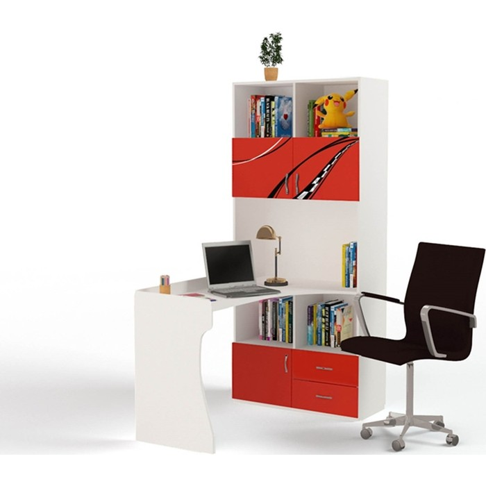 Фото - Стол-стеллаж ABC-KING Formula правый красный шкафы abc king стол стеллаж champion правый