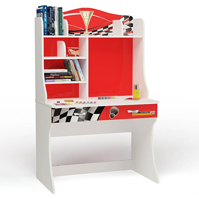 Стол ABC-KING Formula красная с надстройкой