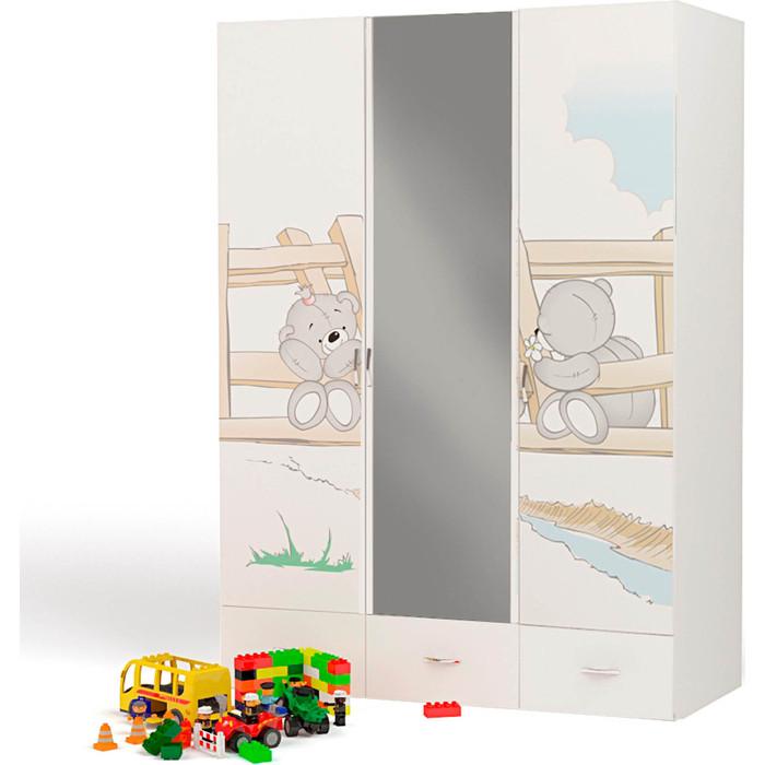 Шкаф 3х дверный ABC-KING Bears с зеркалом