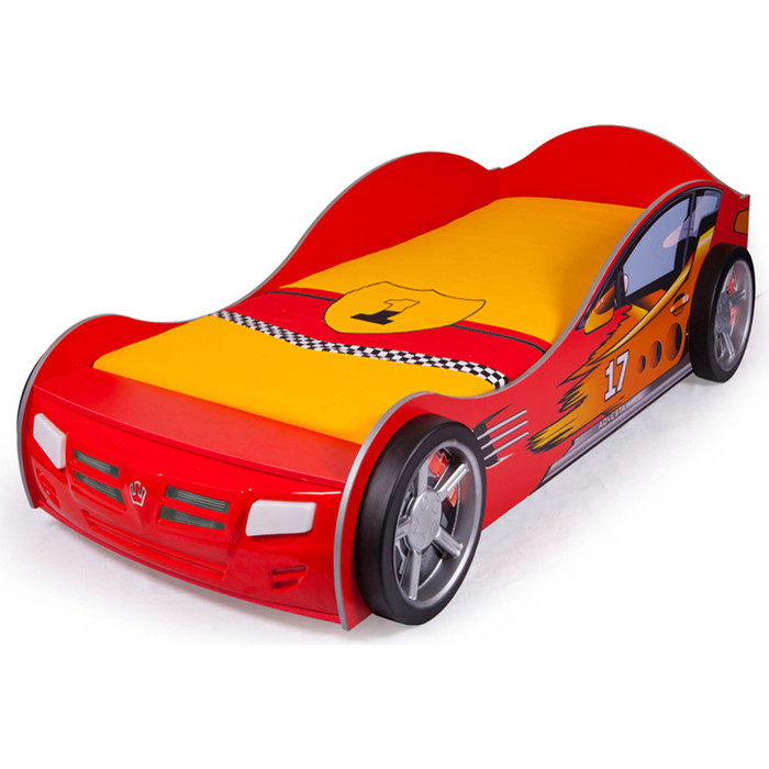 Кровать-машина ABC-KING Champion 160x90 красная