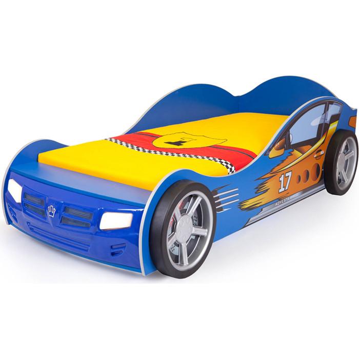 Кровать-машина ABC-KING Champion 160x90 синяя