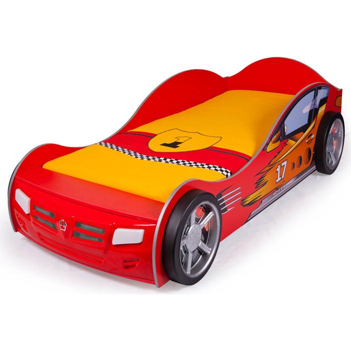 Кровать-машина ABC-KING Champion 190x90 красная