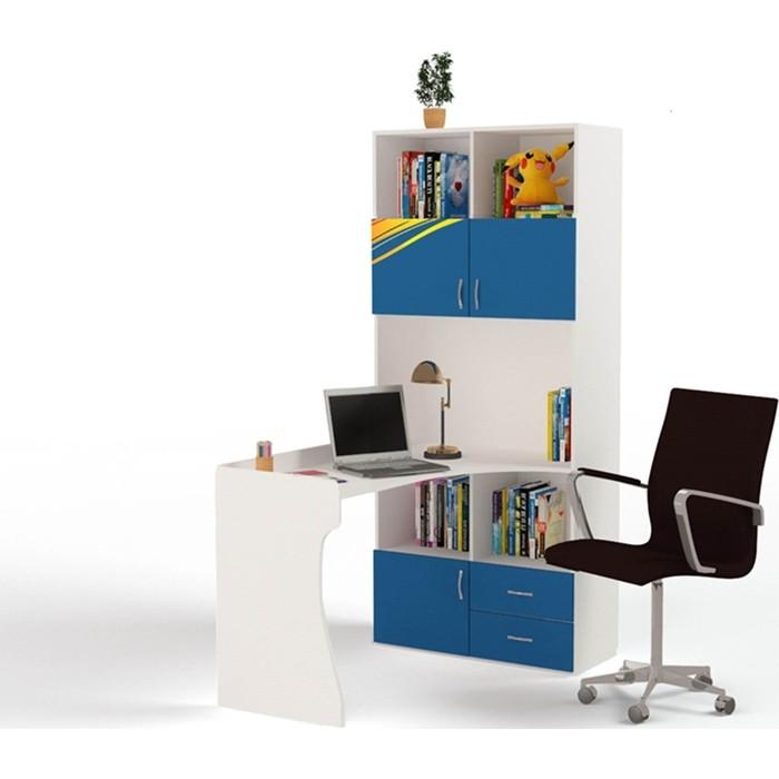 Фото - Стол-стеллаж ABC-KING Champion правый синий шкафы abc king стол стеллаж champion правый