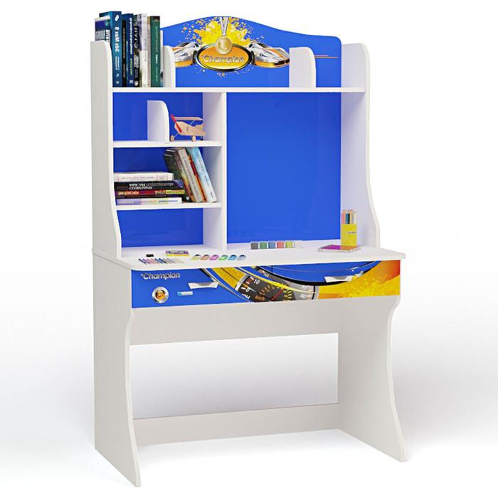 Стол ABC-KING Champion синий с надстройкой