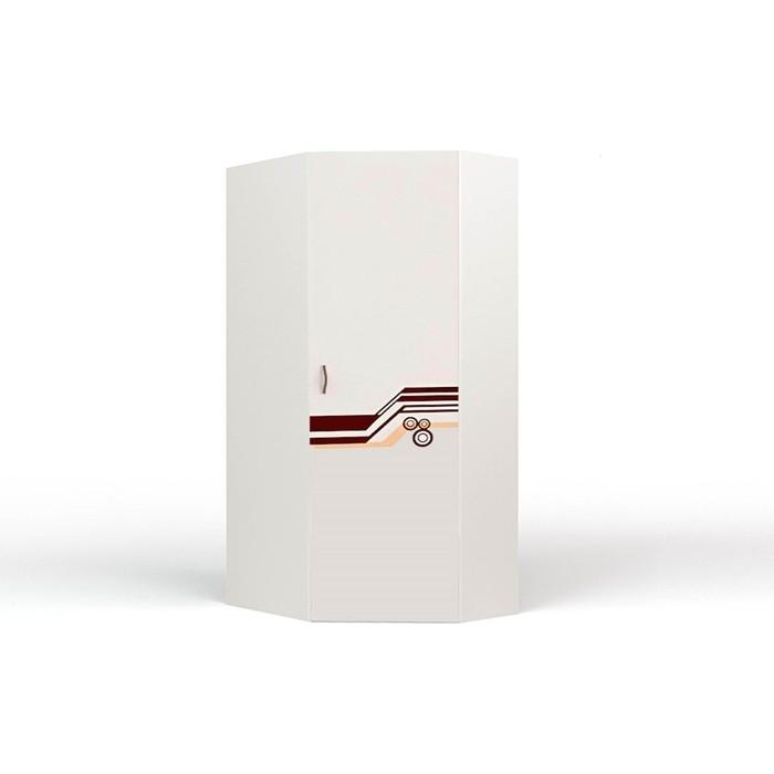 Шкаф угловой ABC-KING Extreme правый белый