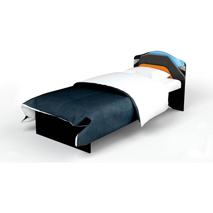 Кровать-классика ABC-KING Pilot рисунок/кожаная вставка 190x90 без ящика