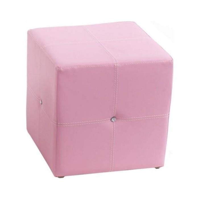 Пуф ABC-KING Розовый со стразами Сваровски квадратный