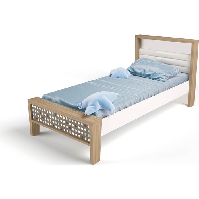 Кровать ABC-KING Mix №1 голубой 190x90