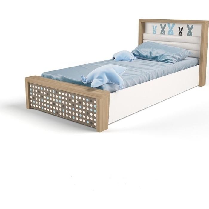 Кровать ABC-KING Mix bunny №5 подъемный механизм голубой 160x90