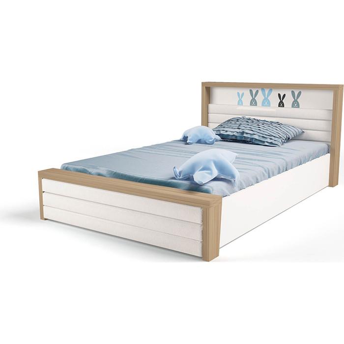 Кровать ABC-KING Mix bunny №6 подъемный механизм/мягкое изножье 160x90