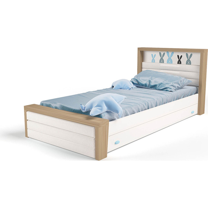 Кровать ABC-KING Mix bunny №3 голубой 190x90